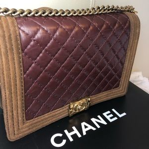 2b75130e415c92 CHANEL Bags | Authentic Le Boy Suedeburgundy Aged Lamb | Poshmark